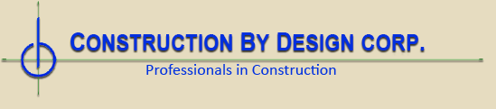 Logo, Construction By Design Corp., General Contractor  in Hauppauge, NY